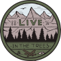 Live in the Trees Button