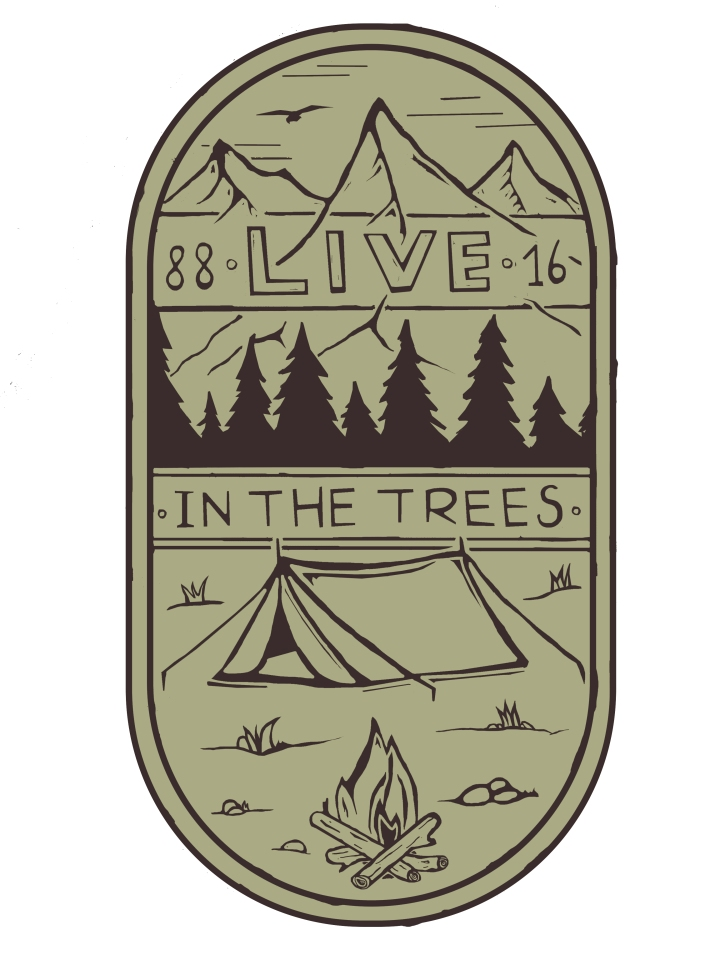 Live in the Trees Grey Logo