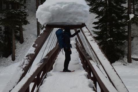 Deep Snow Bridge